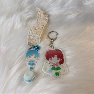 Sailor Moon Keychains Sailor Mercury & Jupiter